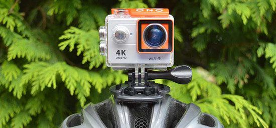 White 4K Bike Cam