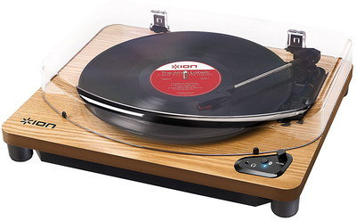 Bluetooth Turntable 3 Speed Wood Finish