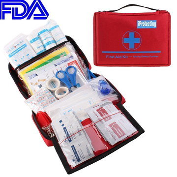 Big Family First Aid Kit In Blue And Red Pack