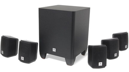Powerful Surround Speakers Subwoofer With Smooth Curves