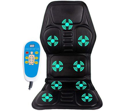 Car Shiatsu Massager With Blue Remote Control