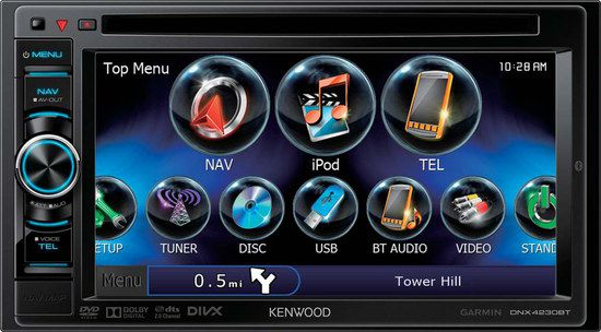 Kenwood Double DIN With Blue iPod Icon