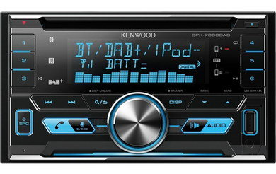 Built-In DAB+ Car Radio With Blue Text