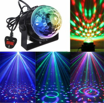 Disco Party Light Ball On Dance Floor