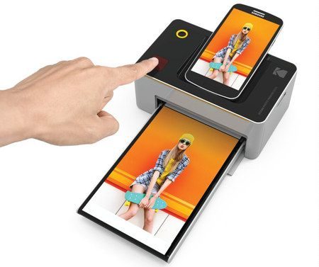 Mobile Photo Printer With Black Top