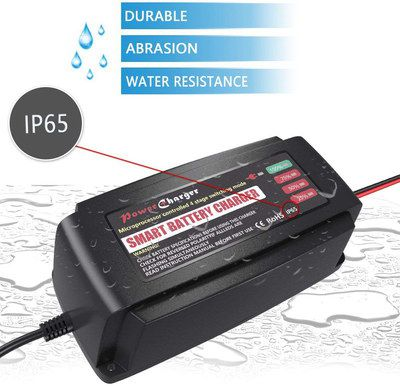 Battery Charger With Black Plastic Exterior