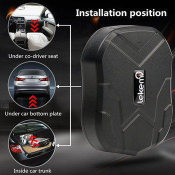 Android And iOS GPS Tracker For Car In Black