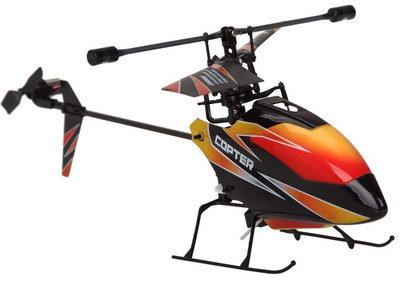 Outdoor RC Helicopter In Black And Red