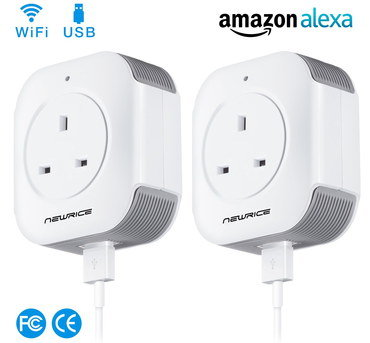 Wi-Fi Plug Socket With White Connector Cable