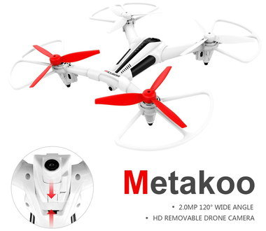 Radio Controlled Drone With Red Blades