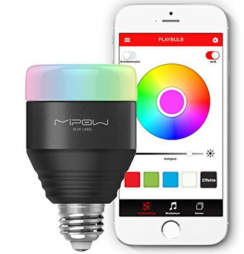 Smart Multi-Colour Bluetooth Bulb With Wite Mobile
