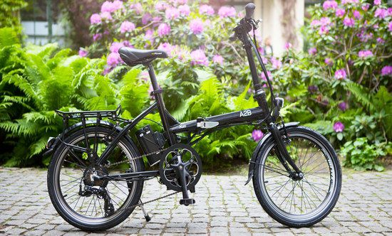E Bike With Flowers Behind