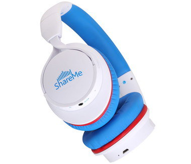 Hard Wearing Toddler Headphones In Bright Blue