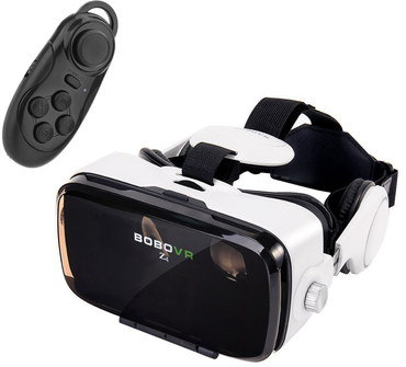 Virtual Reality Headset With Black Joystick