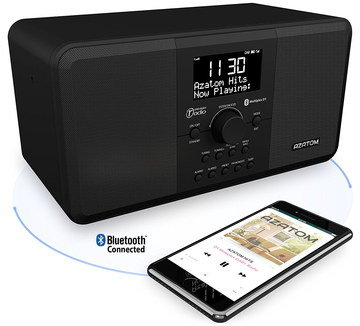 DAB Digital Radio Bluetooth In All Black