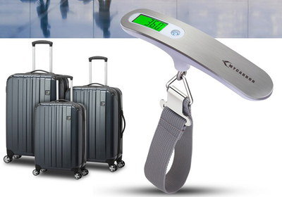 LCD Suitcase Weighing Scales With Grey Strap