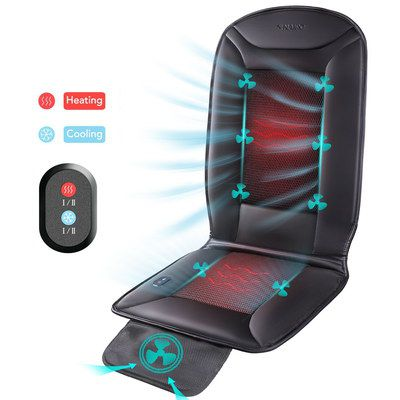 Car Back Pad Massager With Air Vents