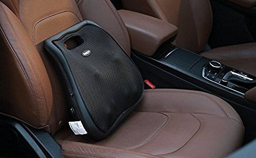 Black Car Massage Cushion On Front Seat