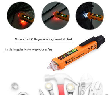 Non Contact Voltage Tester In Orange PVC