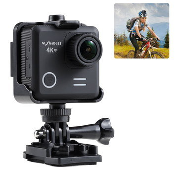 Low Priced Action Cam With Man On Bike