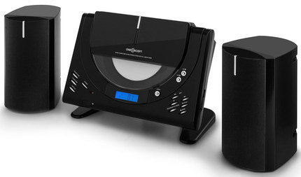 FM Radio CD Player Connect In All Black