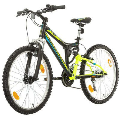 Mountain Bike With Yellow Frame