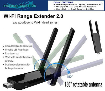 LED Signal WiFi Antenna Booster With Plug