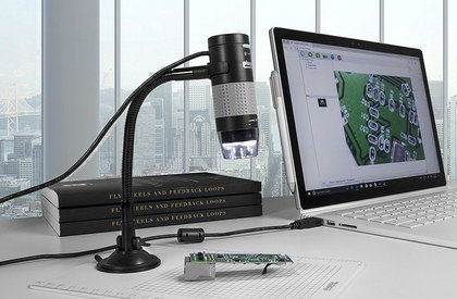2MP USB Pro Digital Microscope With Black Base