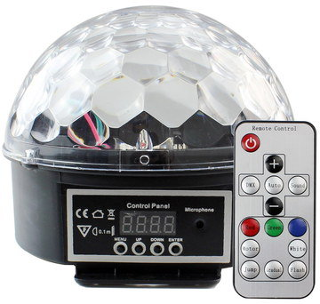 Glitter Ball With Remote And Front Controls