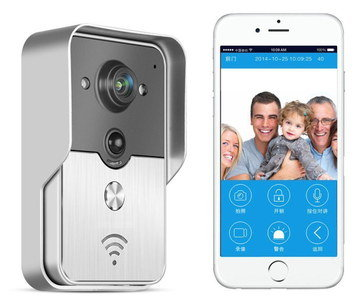 Video Wireless Door Camera With White Mobile