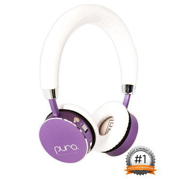 Safe Headphones For Girls With White Head Band
