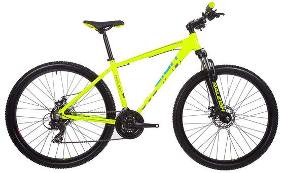 Mountain Bike With Bright Orange Frame