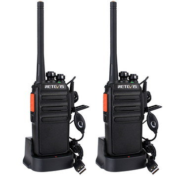 Dynamic Channel Two Way Radios With USB Connector