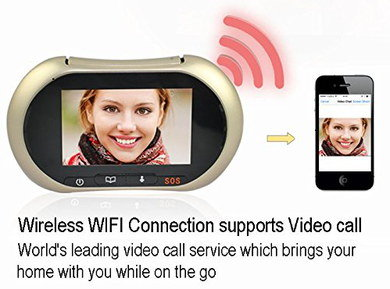 Wireless Door Bell Video Camera In Rounded Style