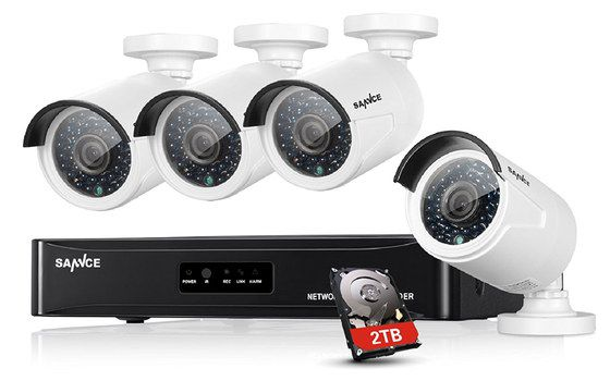 NVR White Security Surveillance Kit