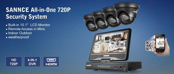 CCTV System All In One Black Pack