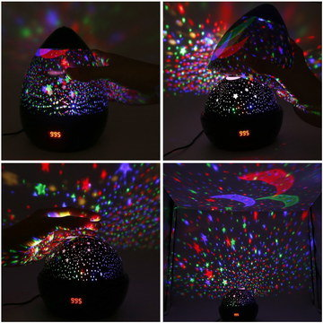 Moon Stars Night Projector In Egg Shape