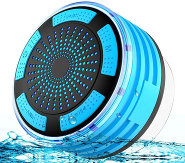 Shower Bluetooth Speaker In Blue And Black Finish