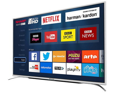 Smart 4K 55 Inch HD TV With Curved Legs