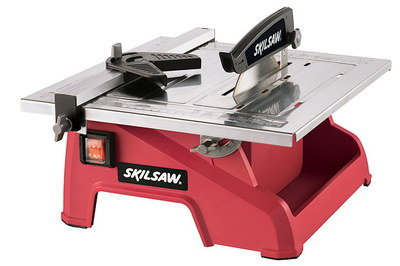 7 Inch Wet Tile Cutting Saw In Red Finish