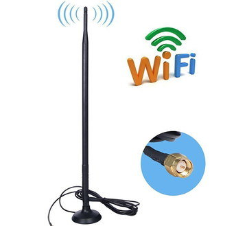 Directional WiFi Antenna With Black Cable