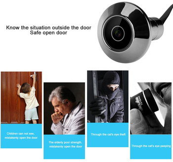 Door Bell Peep Viewer With Black Cable