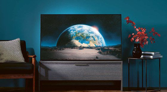 OLED TV Showing Earth On Screen
