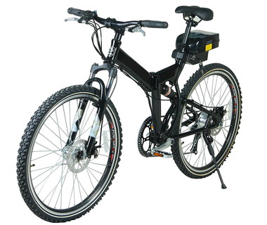 Battery Powered Folding Bike With Bag Rack