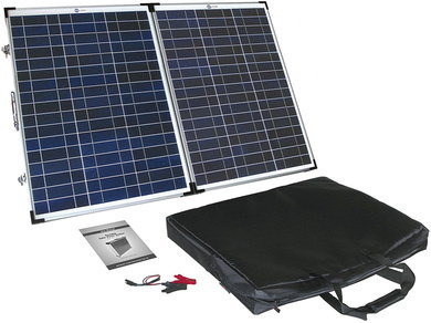 Collapsing 12 Volt Solar Panel With Carry Bag