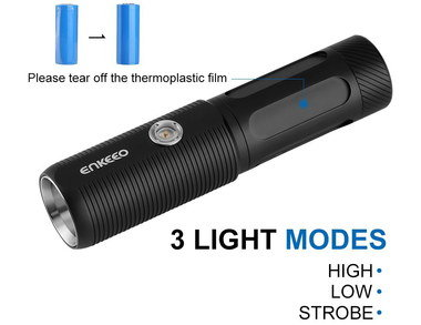 Powered LED Torch With Dark Hand Grip