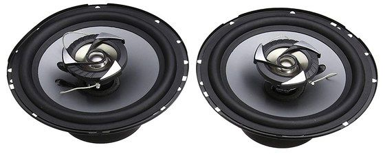 Car Speakers In Black And Grey Finish