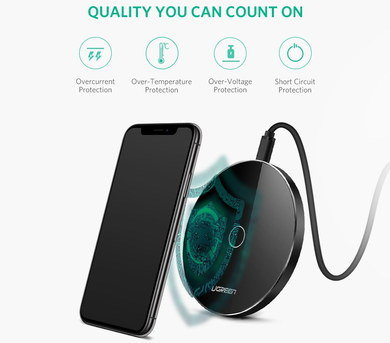 QI Wireless Phone Charger With Circular Shape