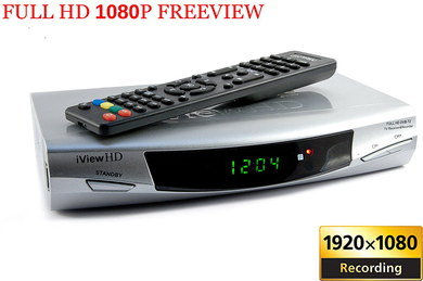 Digital TV Set-Top Box With Black Remote Control