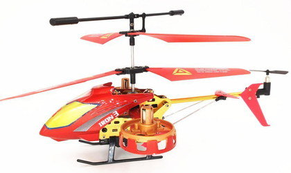Remote Control Helicopter In Red And Yellow